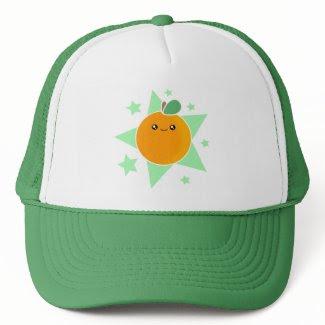 Kawaii Orange Fruit Hat hat