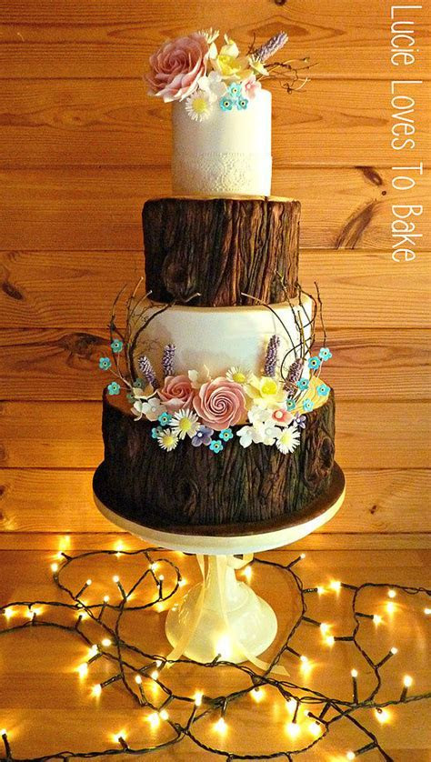 Enchanted Forest Wedding Cake   cake by LucieLovesToBake