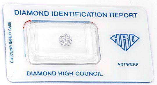 Originalfoto DIAMANT, HRD-GUTACHTEN, 1,003ct LUPENREIN WEISS DIAMOND