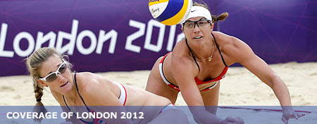There's a reason the sand in Olympic beach volleyball courts doesn't stick to the athletes. (AP)