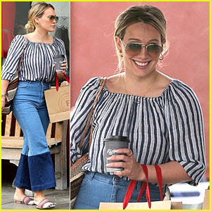 Hilary Duff Returns to Los Angeles After New York Promo Trip