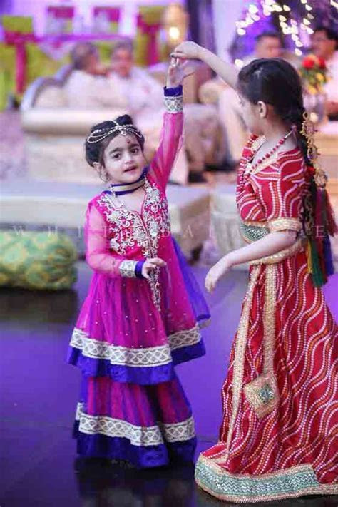 Pakistani wedding partywear sharara designs for little