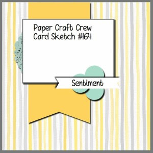 Paper Craft Crew Card Sketch 164