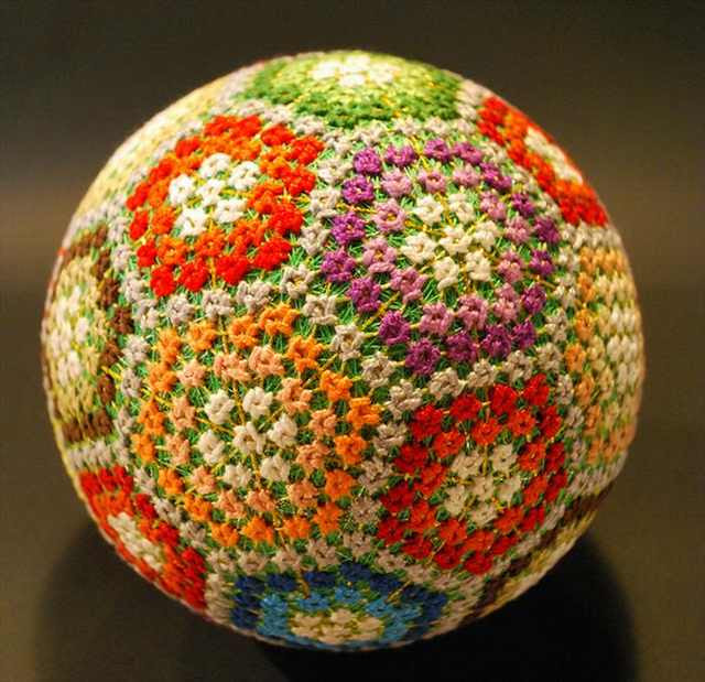 Temari balls are a degree of Chinese  as well as Japanese folk fine art inward which small-scale balls are embroid Intricately Beautiful Temari Balls