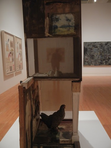 DSCN8751 _ Untitled, c. 1954, Oil, pencil, crayon, paper, canvas, fabric, wood, glass, mirror, etc., Robert Rauschenberg (1925-2008), MOCA