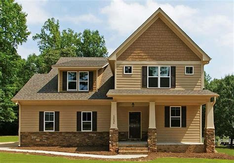 storey style craftsman front house design