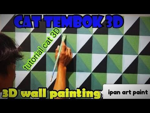 Menarik Cat tembok 3D 3D wall painting tutorial cat 3D ...