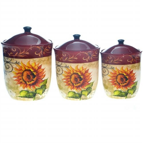 tuscan kitchen canister sets tuscan sunflower 3 pc tuscan collection deluxe 4 piece canister set free