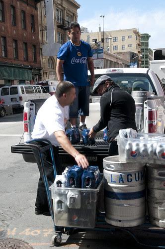 Bringing in beverage