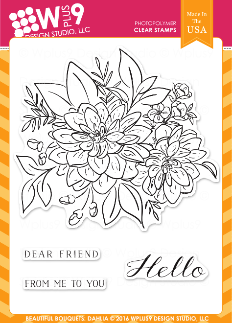 Wplus9 Beautiful Bouquet: Dahlia Stamps