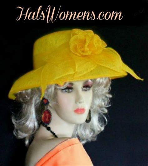 Orange Sinamay Straw Wide Brim Wedding Hat Women?s