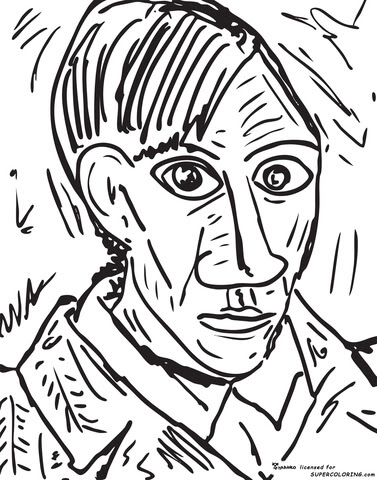 Download Dibujo de Autorretrato, 1907, De De Pablo Picasso para colorear | Dibujos para colorear imprimir ...