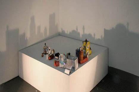shadow art city scene