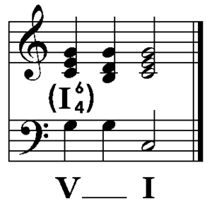 Illustration of cadential 6/4, modified after ...