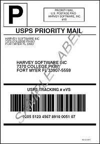 USPS eVS Label from a High Volume Shipping Software Solutions Powered by CPS