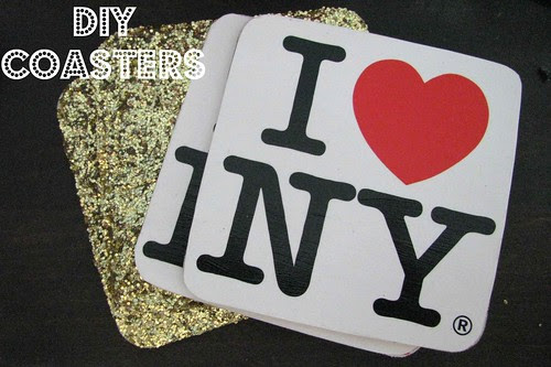 Glitter and Postcard Coasters Text