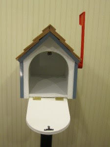 Wood Mail Box - White Amish Barn Wooden Post Mailbox with ...