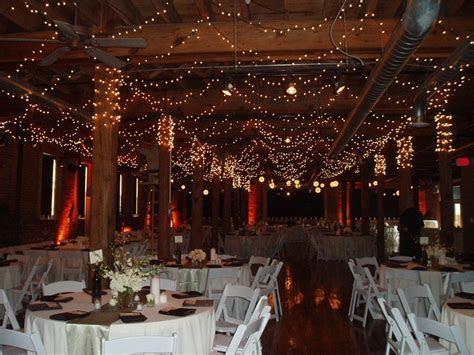 Beautiful winter wedding reception venue, with sparkling