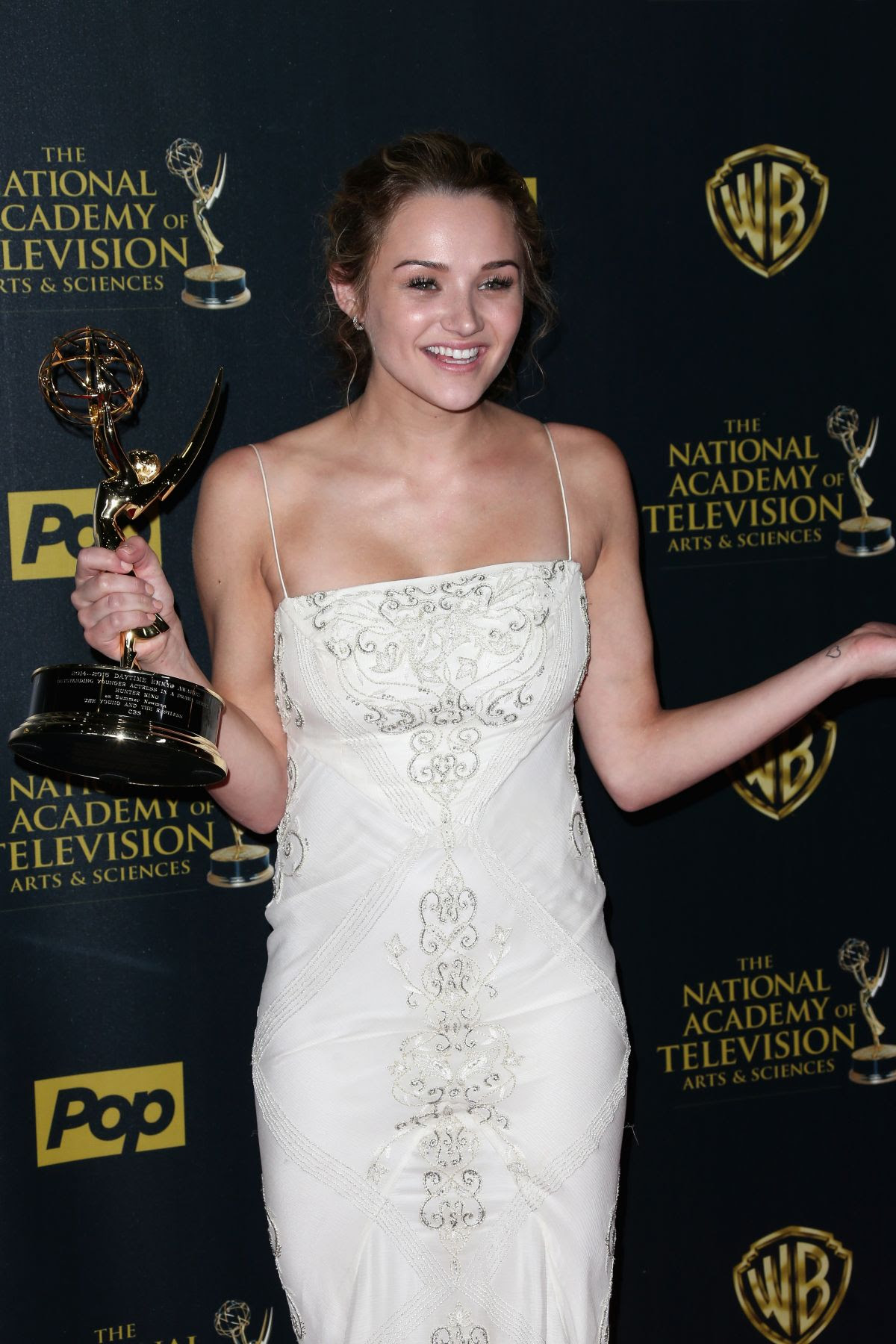 HUNTER HALEY KING at 2015 Daytime Emmy Awards in Burbank