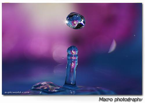 refraction water splash macro picture