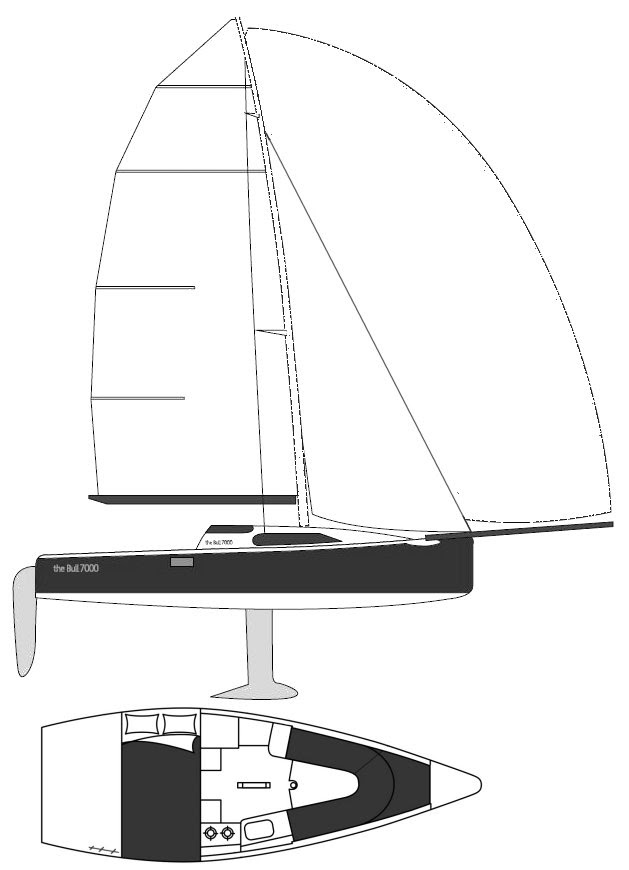Bull 7000 drawing on sailboatdata.com