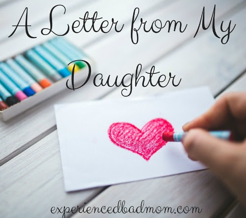 A Letter From My Daughter Happy Mothers Day To Me
