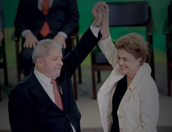 Dilma e Lula na posse do ex-presidente como novo ministro da Casa Civil  (Foto: Adriano Machado/Reuters)