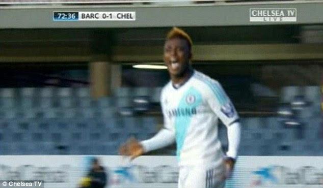 Opener: Islam Feruz got proceedings underway for Chelsea
