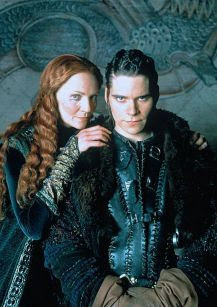 Joan Allen as Morgause and Hans Matheson as Mordred in The Mists of Avalon (2001)