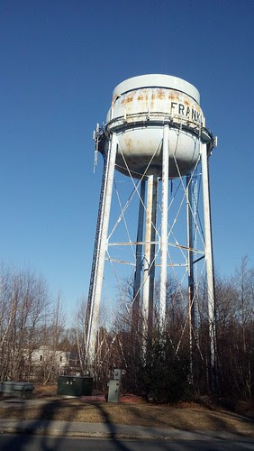 Franklin water tower: Upper Union St