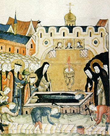 Обретение мощей преподобного Сергия