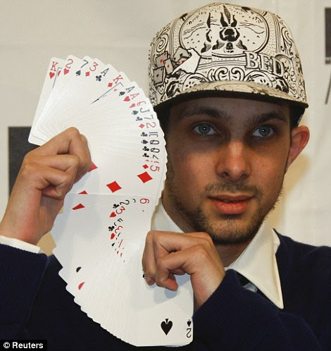 Fast hands: Dynamo began his magic career learning card tricks from his grandfather