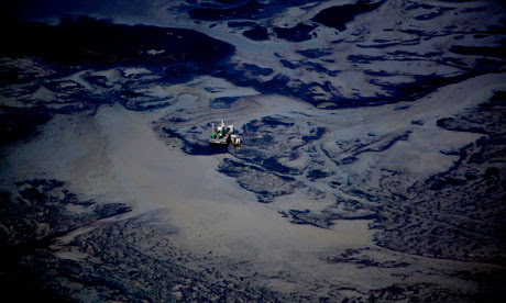 Damian Blog : Tar Sands : Syncrude open pit oil excavation mine, Alberta, Canada