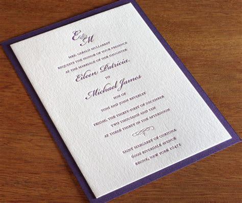 Formal Letterpress Wedding Invitation Designs: Invitations