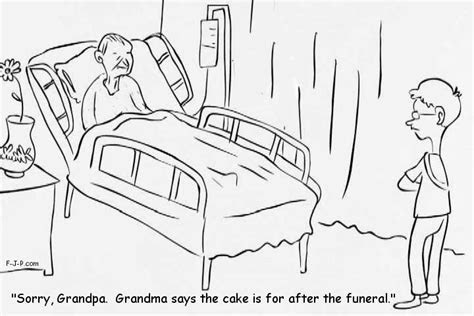 Cake After Funeral Cartoon ~ Funny Joke Pictures