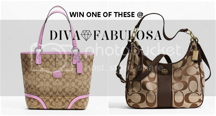 Enter for your chance to win one of two Coach handbags w/ $298 ARV. WW, 18+, 7/30