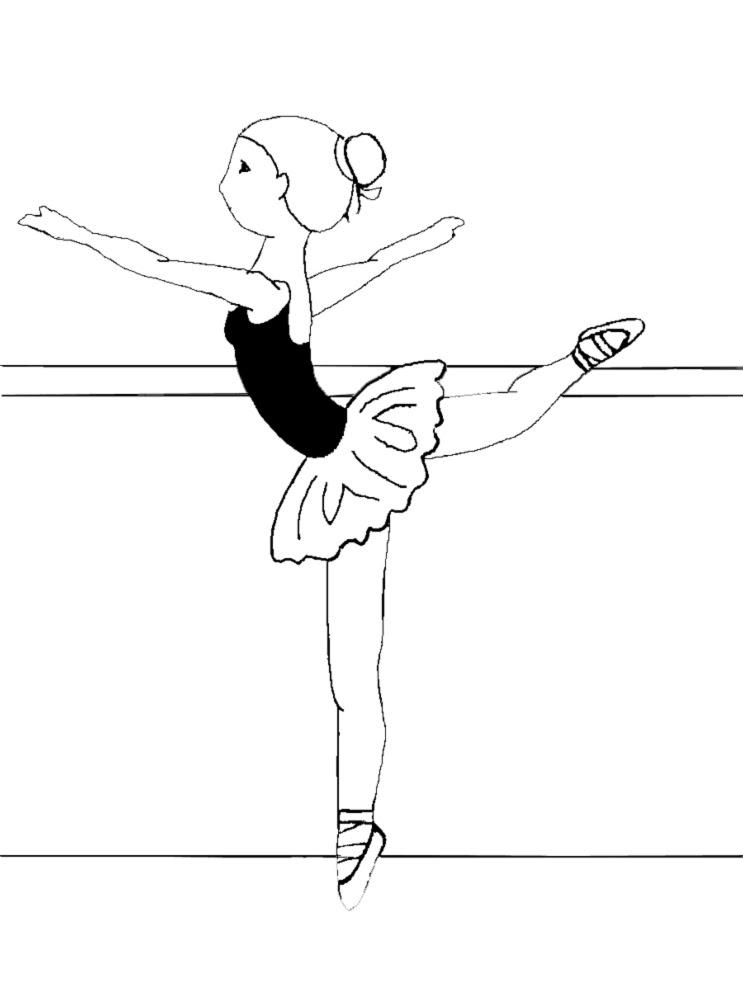 Disegno Di Lezione Di Danza Classica Da Colorare Per Bambini