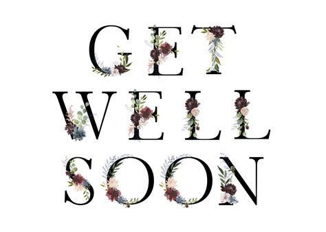 Floral Letters   Get Well Soon Card (Free)   Greetings Island