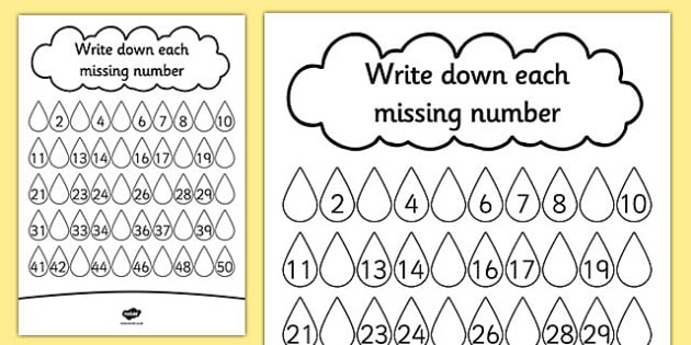T T 16396 Raindrop Missing Number Activity Sheet_ver_2