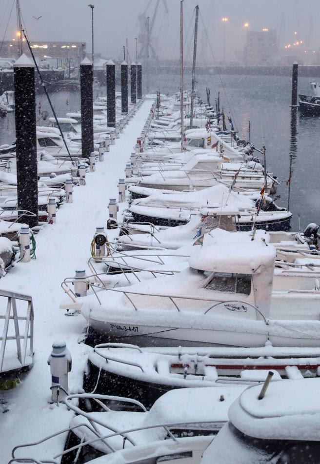 En San Sebastián ha nevado con ganas