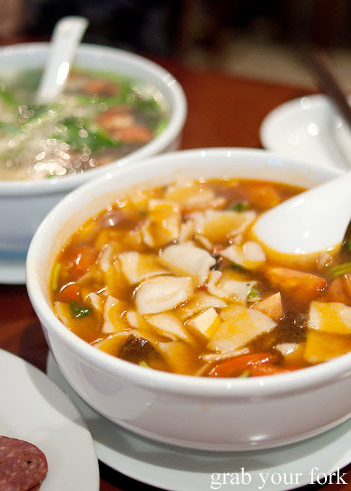 xinjiang noodle soup at poplar central asian cuisine crows nest
