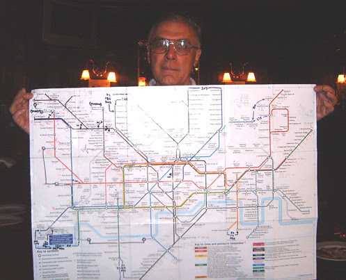 Jeremy with very useful Large Print Tube Map