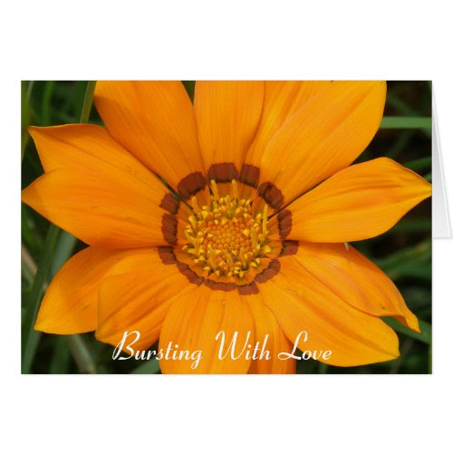 Card Bright Yellow Burst Flower Love card