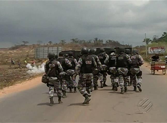 infraero marabá reintegração de posse confronto polícia  (Foto: Reprodução / TV Liberal)