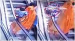 CCTV VIDEO: 10-month-old baby    falls off escalator; accidentally slips from mother's hands