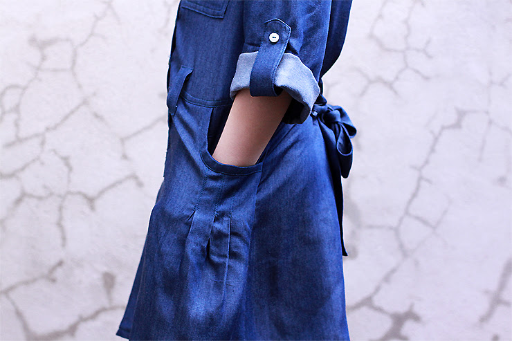 Blue Shirtdress #3