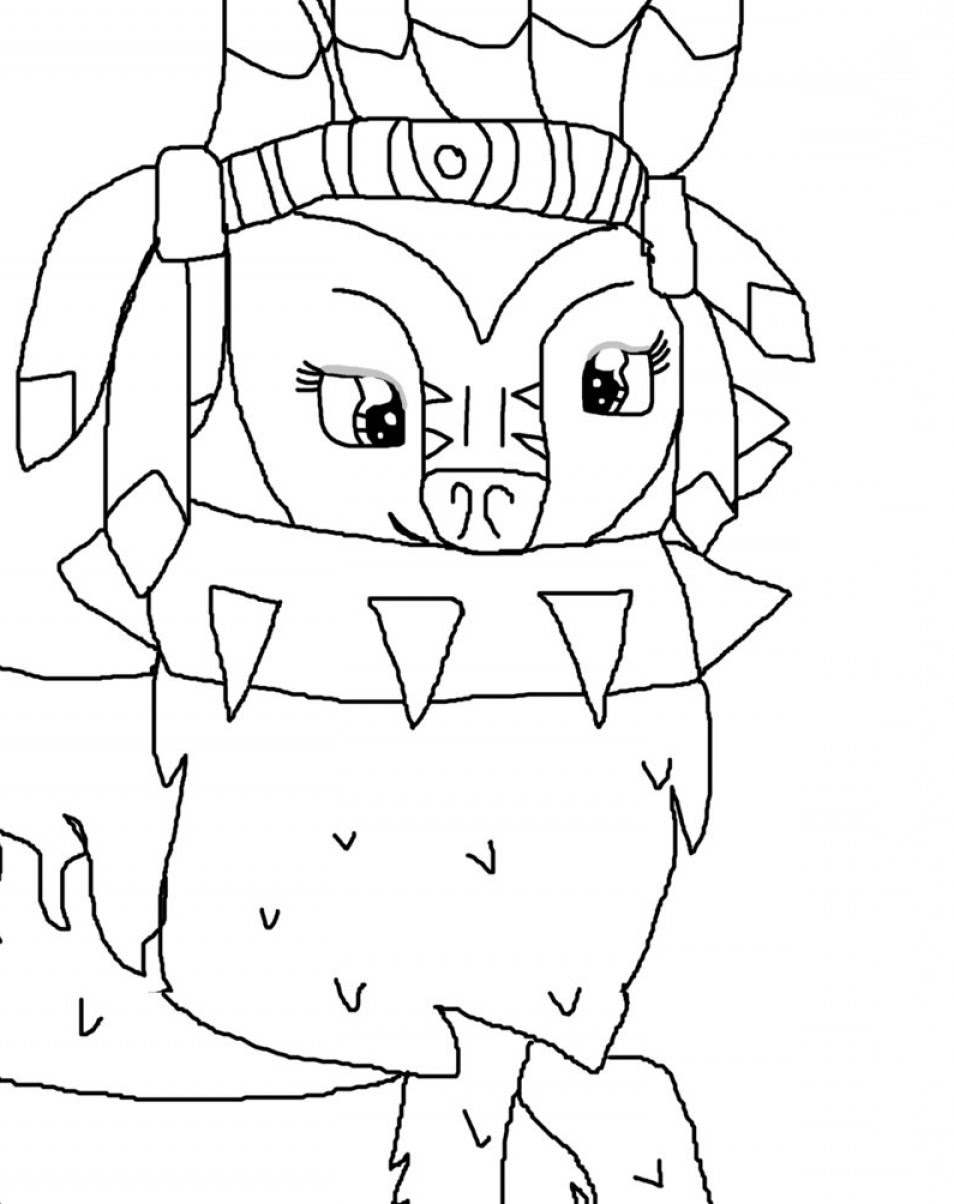 Animal Jam Wolf Coloring Pages at GetColorings.com | Free ...