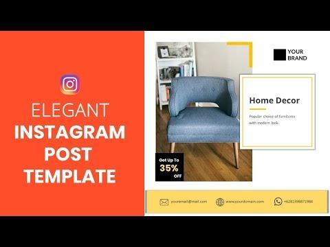 Elegant Instagram Post Template Untuk Bisnis Furniture