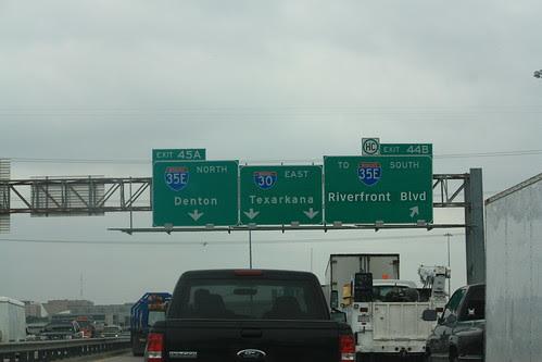 Dallas Traffic at I-30 & I-35E