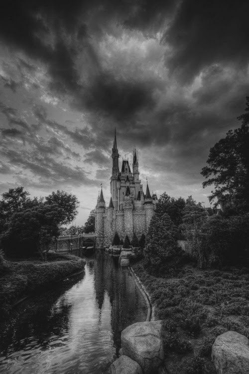 A dark castle. Imagine what stories its walls could tell if they could talk to us. Stories of the families who had lived there. Are there ghosts lurking inside these walls? Spirits who have unfinished business. Maybe we could see them roaming the empty halls at night. This what happens when you have an over-active imagination.
